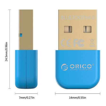 Orico Orico BTA-403 Mini USB Bluetooth 4.0 Adapter Dongle - Blauw