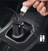 Q7S Dual USB Car Charger 5V 2.1A Bluetooth Music Player Hands-free Speaker FM Transmitter - Zwart