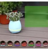 Tokqi Tokqi 2-in-1 Bloempot LED Bluetooth Speaker LED - Wit
