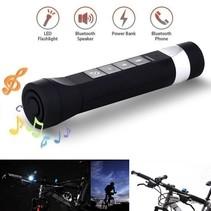 3-in-1 Fiets LED licht + Bluetooth Speaker + Powerbank - Zwart