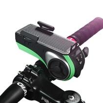 Fietshouder Bluetooth Speaker met Powerbank en Zaklamp