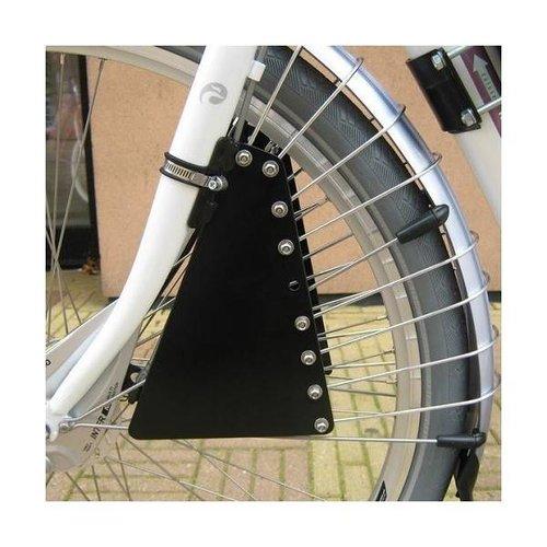 Zadel op Stang Zadel Op Stang Spaakafschermer - Zwart - Aluminium