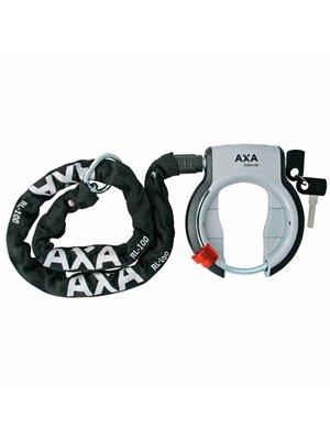 AXA AXA Defender Ringslot Grijs + RLC100 insteekketting Zwart