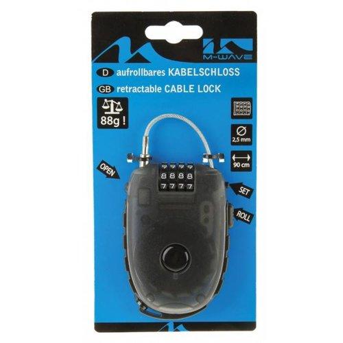 M-Wave M-Wave Kabelslot Oprolbare Staalkabel Ø2.4X90Cm