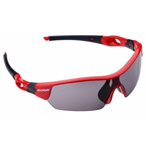 Edge Fietsbril Edge Ventoux met etui en 4 lenzen - rood