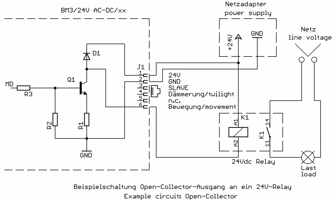 Circuit open collector