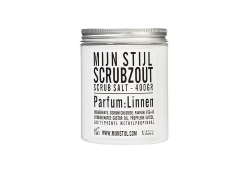 Mijn Stijl Scrubzout parfum Linnen wit/zwart etiket