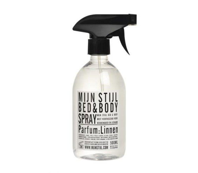 Bed & Bodyspray parfum Linnen wit