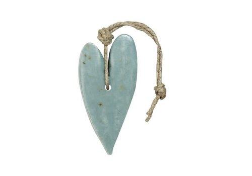 Mijn Stijl Zeephanger hart XL blauw/grijs met oregano parfum olijf