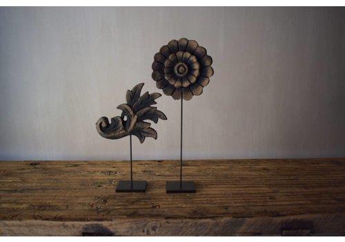 Belle Home Set houten  lelie & bloem 20cm