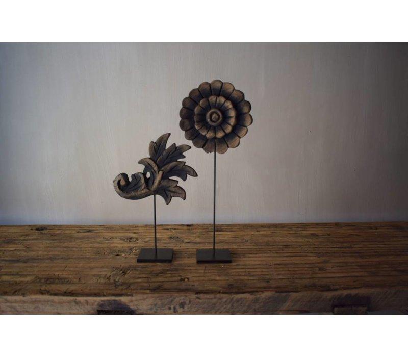 Set houten  lelie & bloem 20cm