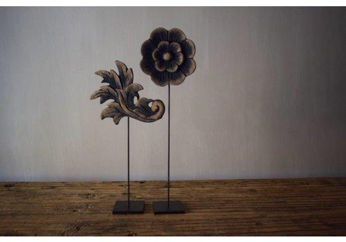 Belle Home Set houten Lelie& bloem 30 cm