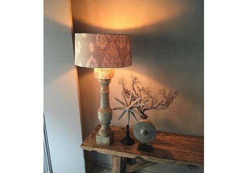Belle Home Houten baluster lampvoet