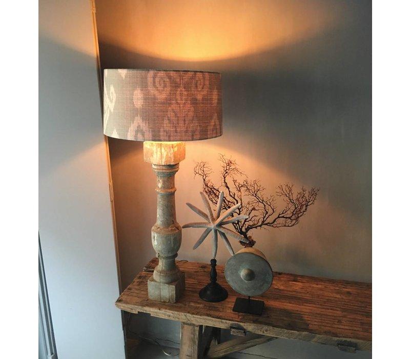 Houten baluster lampvoet