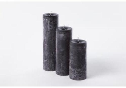 Deco Candle Lotus Kaars Black