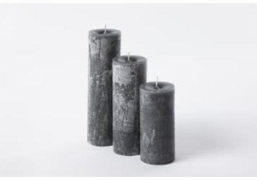 Deco Candle Lotus Kaars Dark Grey