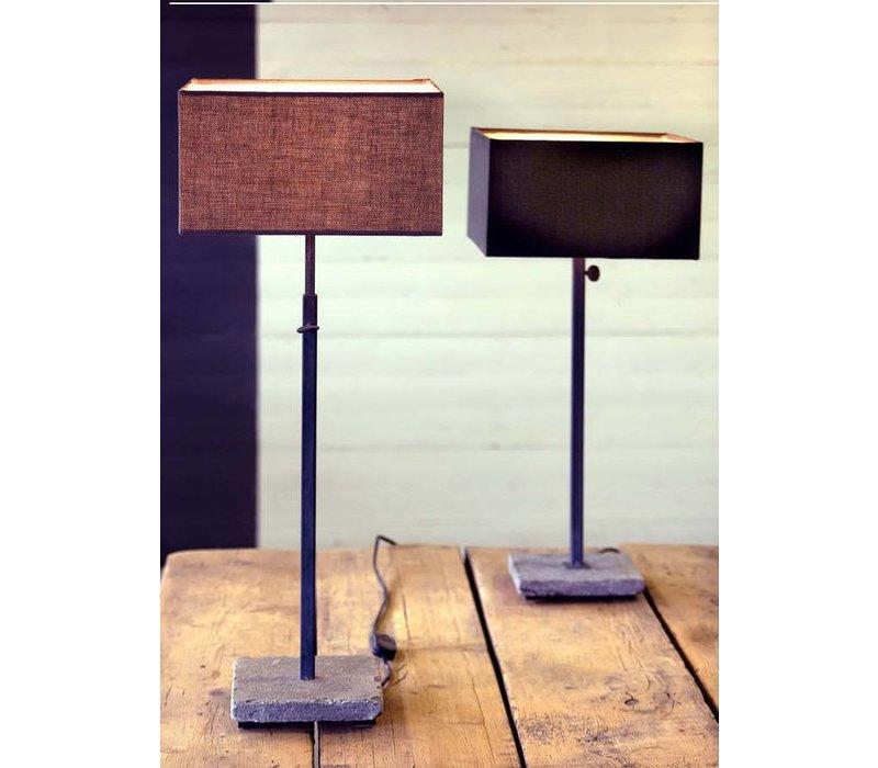 Hardstenen tafellamp Base Only