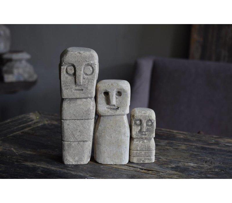 Set stenen popjes