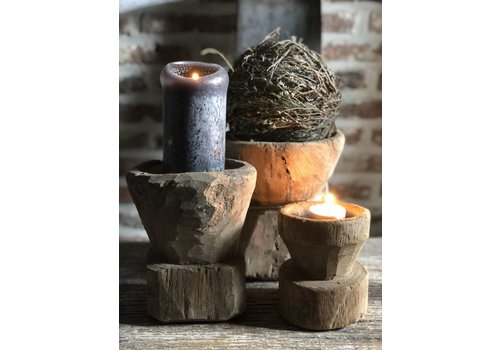Belle Home Kandelaar hout zaaier