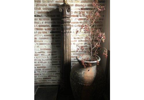 Belle Home Lampvoet hout snijwerk