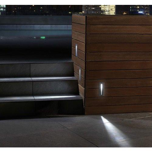 wandlampen inbouwen in een buiten muur zijn zeer fraai om een looppad een trap of een terras aan te lichten