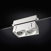 Multidir Evo S trimless inbouwspot 2-voudig voor 50mm led in wit, zwart of antraciet