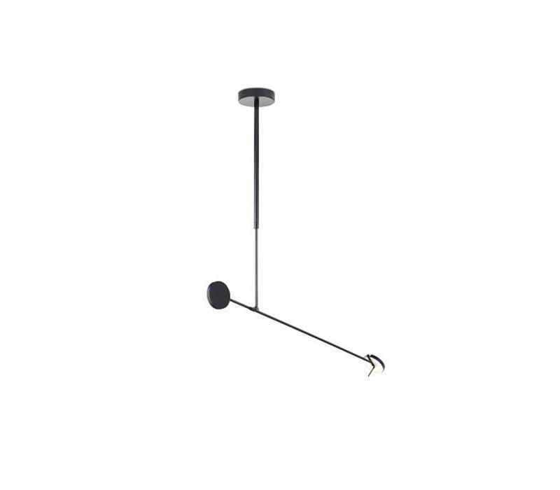 Invisible led hanglamp zwart 9W-3000K dimbaar
