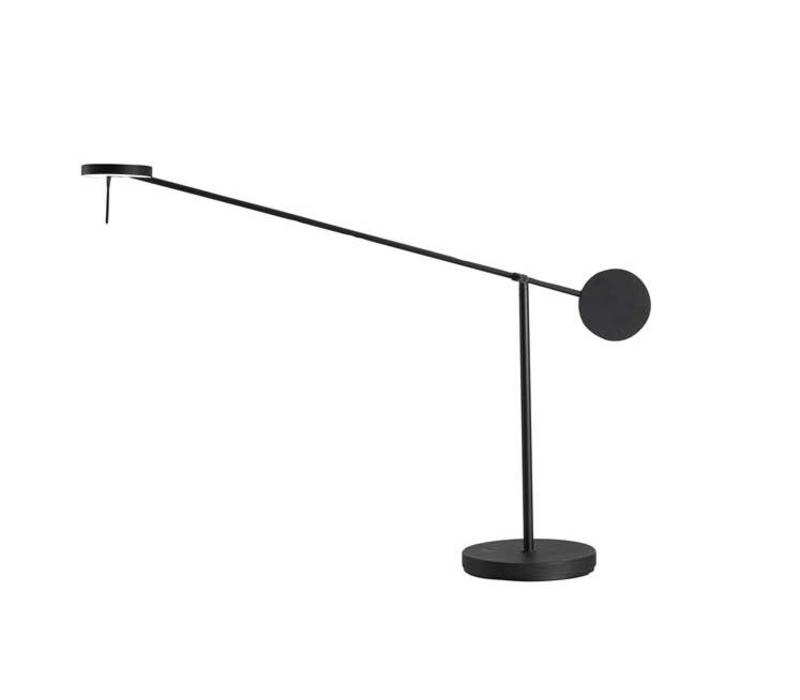 invisible led tafellamp 9watt 3000k zwart touch dim