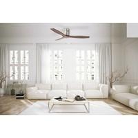 Stem plafond ventilator blank walnoothout
