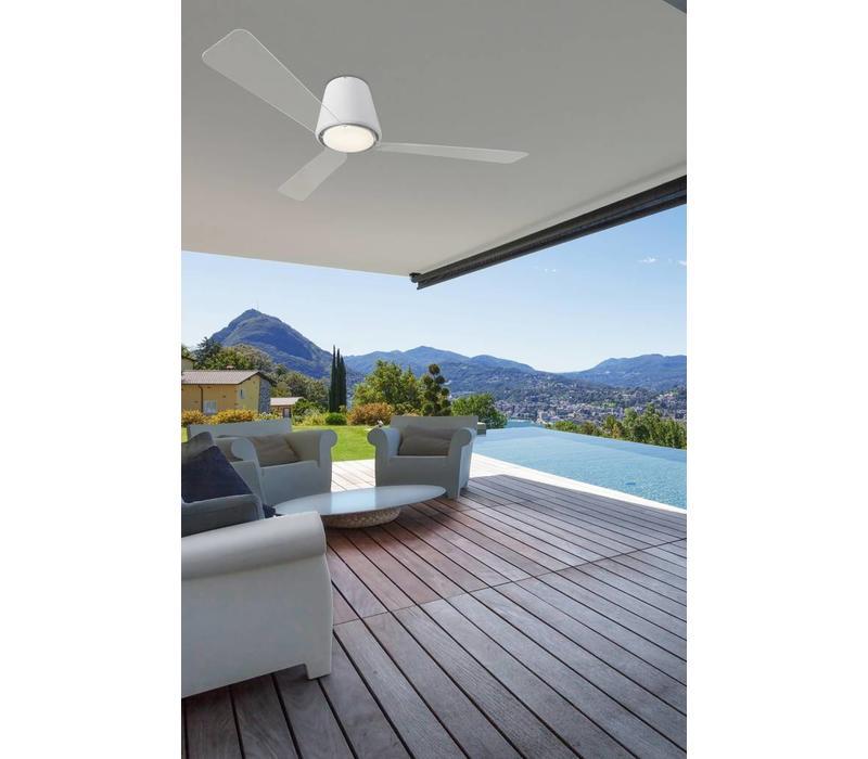 Garbi plafond ventilator wit met  led verlichting IP44