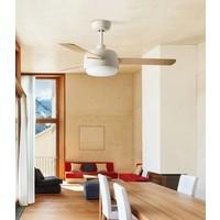 Klar plafond ventilator wit of wit/ahorn met verlichting