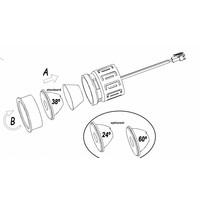 In Ø50mm ledmodule 13Watt-2700K-38gr  230Volt niet dimbaar, incl driver