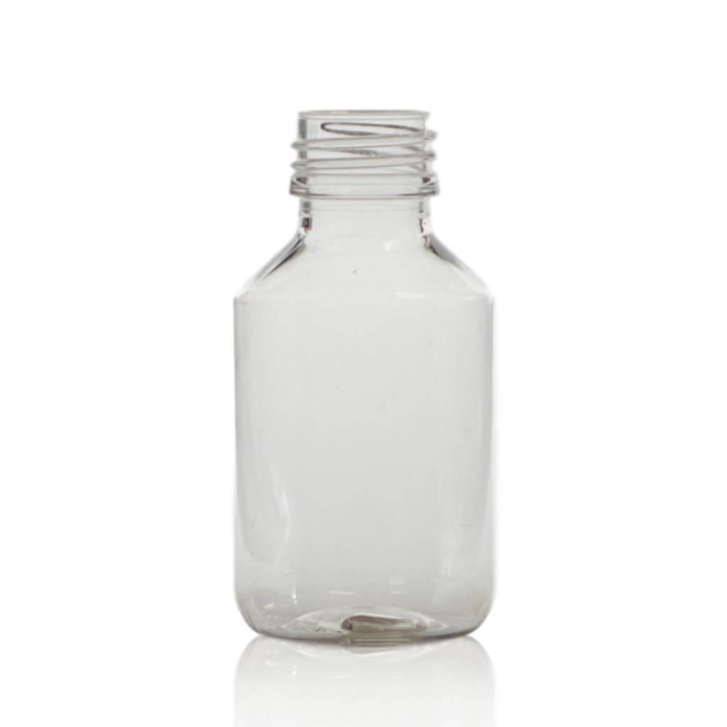 Transparante PET fles 100 mL