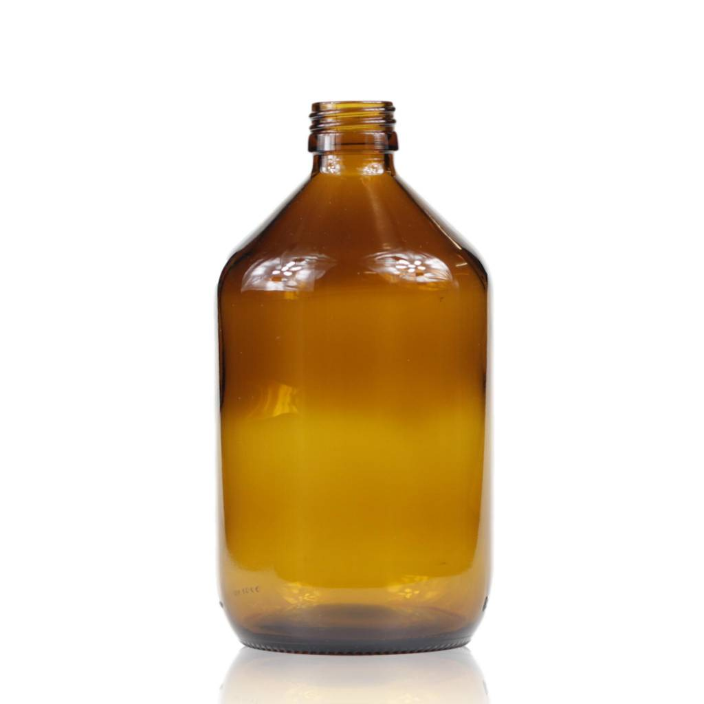 Bruinglas fles wijde hals 500 mL
