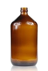 Bruinglas fles wijde hals 1 L