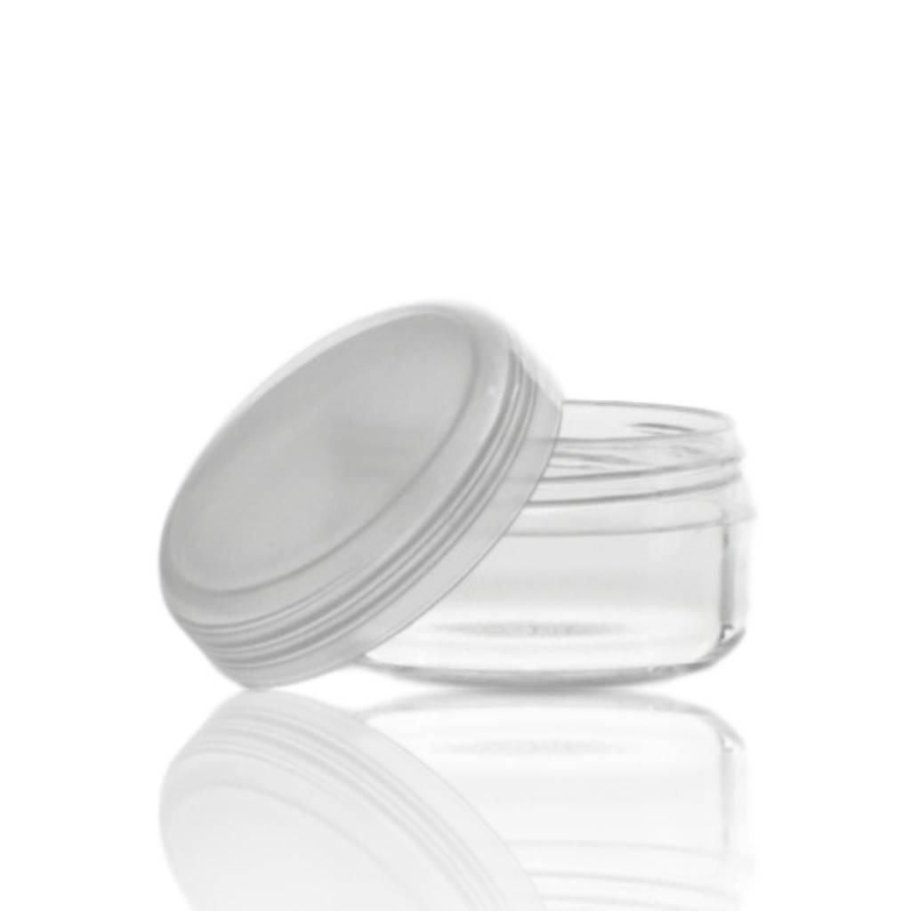Crèmepotje klein transparant 10 mL