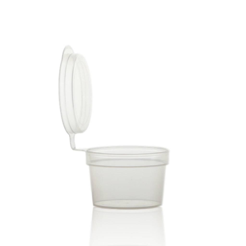 Crèmepotje met vastzittende deksel 10 mL