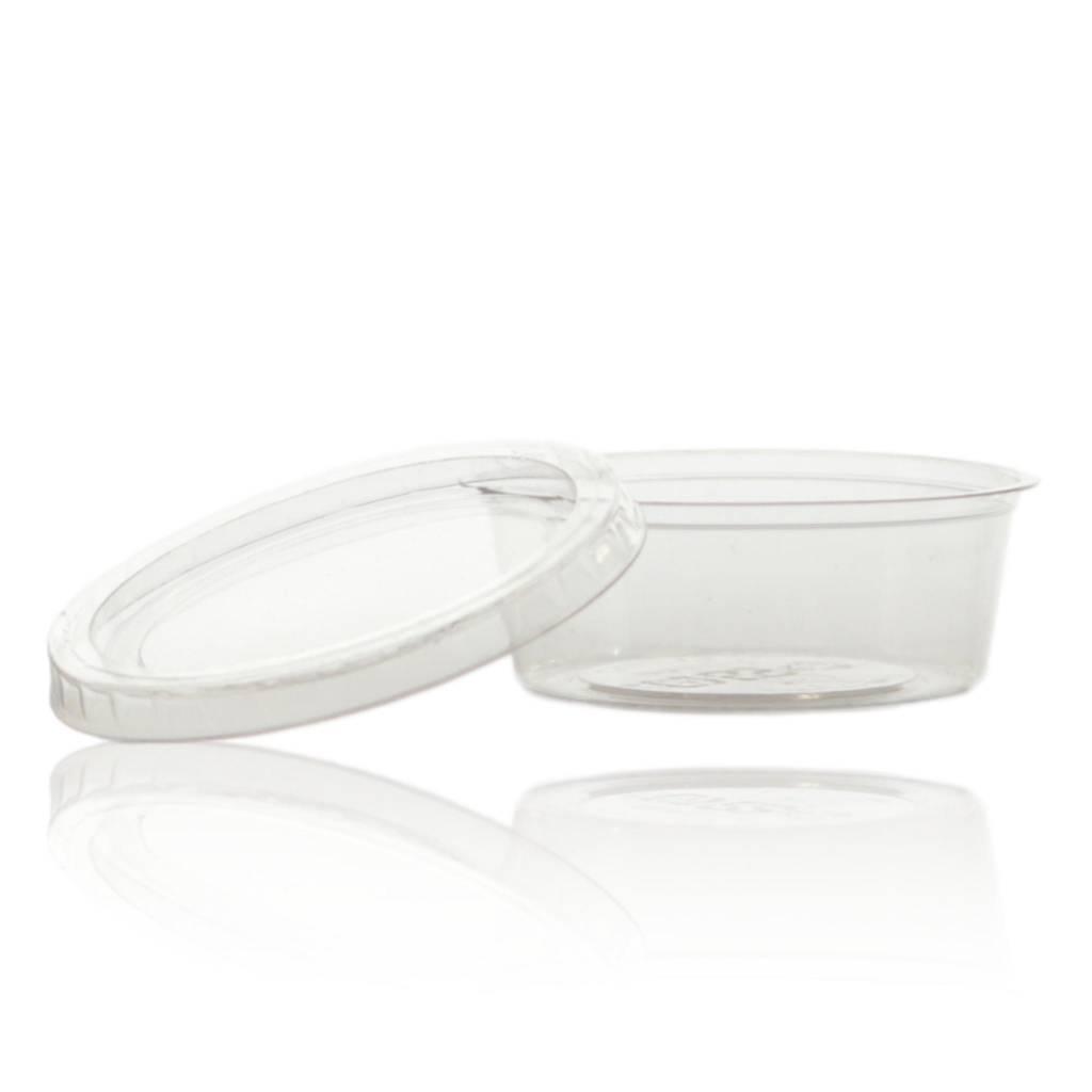 Bioplastic wegwerpcrèmepotje 60 mL