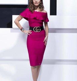 Glamorous SALE INEZ DRESS PINK GLAMOROUS 7081