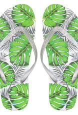 Sieraden by Ladybugs Tropical Glitter Flip Flops - Silver MY JEWELLERY