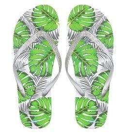 My jewellery Tropical Glitter Flip Flops - Silver MY JEWELLERY