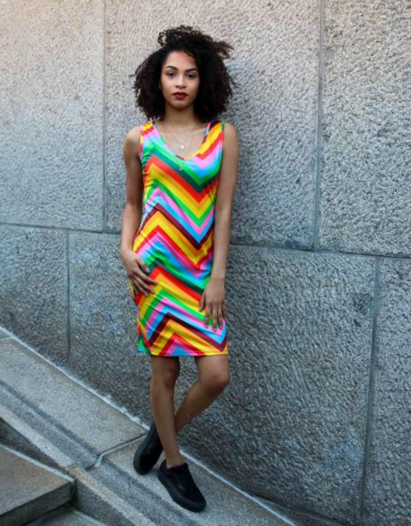 Maison Runway / Delousion SALE DRESS VALENCIA RAINBOW DELOUSION