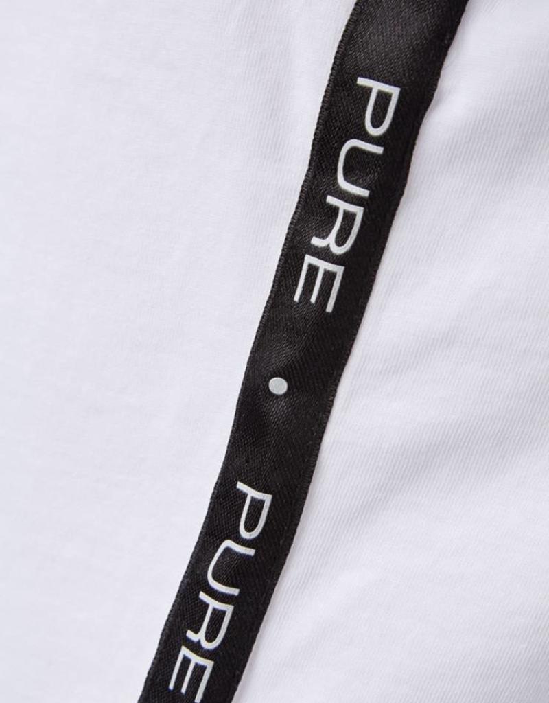 Purewhite 18015101 BASIC TAPE TEE PINK BRANDING