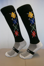 "Tudor TS910 "" Coolmax"" Long Socks with Diamond Jacquard Design"