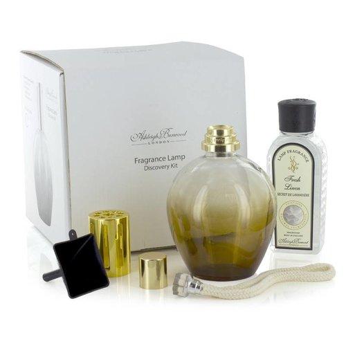 Ashleigh & Burwood Ashleigh & Burwood fragrance lamp discovery kit amber + 180ml fresh linen fragrance oil