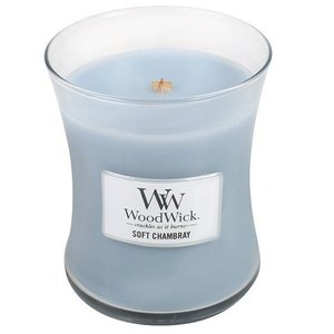 WoodWick WoodWick Medium Candle Soft Chambray