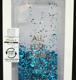 Guess Glitter iPhone X Back Cover