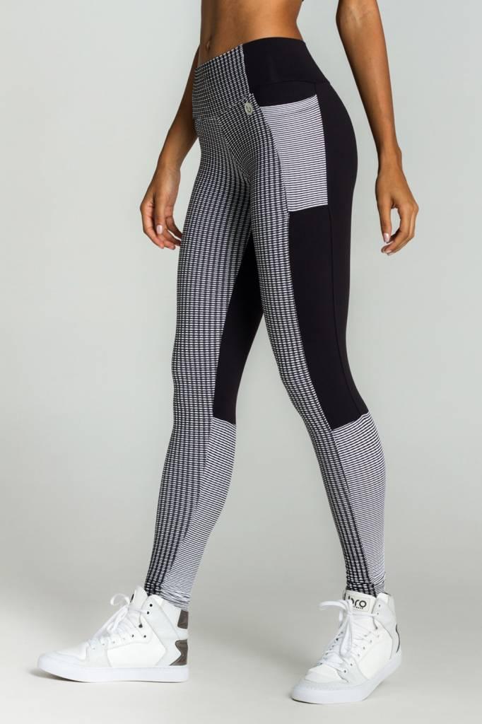Witte Sportlegging.Zwart Wit Sport Legging Femfitwear