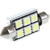 Festoon 6 x 5050 SMD LED Canbus White 39 MM 12V Autolamp