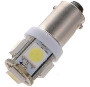 T11 BA9S 5 x 5050 SMD LED White 12V Autolamp